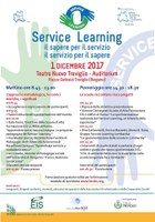 1 dicembre 2017 - Convegno SERVICE LEARNING, il sapere per il servizio, il servizio per il sapere.
