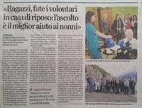 4 gennaio 2018- I giovani della Consulta di Bergamo incontrano gli anziani della casa di riposo di Schilpario